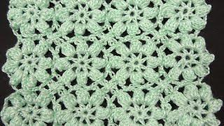 getlinkyoutube.com-Crochet : Flores en Relieve Continuas