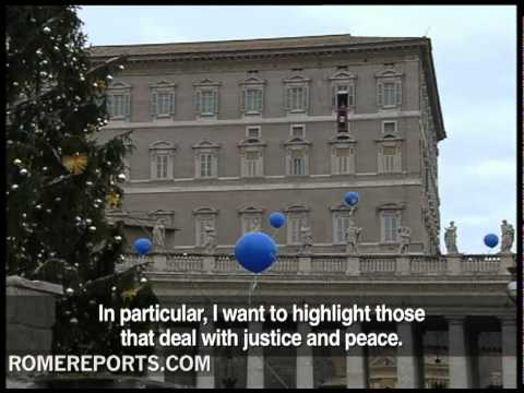 Pope's  New Year's Angelus