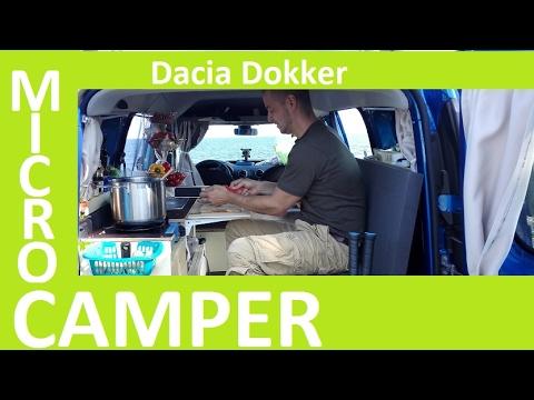 Home Made Dacia Dokker Micro Camping car van DIY Hochdachkombi mini Camper Auto
