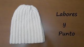 getlinkyoutube.com-Aprende a tejer un gorro en dos agujas