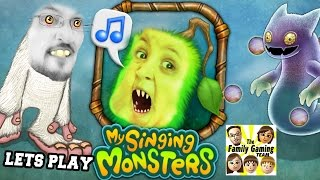 Lets Play MY SINGING MONSTERS!  Dad & Son Drum Drum Bump Dudda Bum Bum! (Face Cam Commentary)
