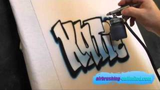 getlinkyoutube.com-airbrushed graffiti name