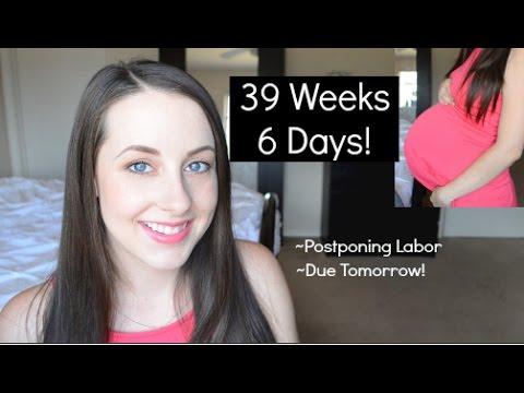 Postponing Labor, Mucus Plug, 39 Weeks 6 Days Pregnant!