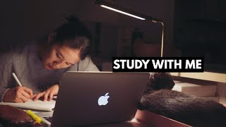 STUDY WITH ME with music | late night study session!