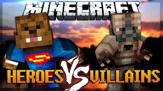 getlinkyoutube.com-Minecraft Super Hero Mod vs Super Villains Mod (Mod Battles)