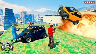 getlinkyoutube.com-GTA 5 Snipers Vs Pantos!! TINY CAR RAMPAGE w/The Stream Team DREAM TEAM (GTA 5 Funny Moments)