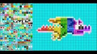 getlinkyoutube.com-Growtopia Speed Art / Pixel Art - Rainbow Drag (Growtopia Level Editor) (+DOWNLOAD)
