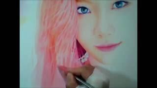 getlinkyoutube.com-박기철님그림♥Drawing 태연 팬아트