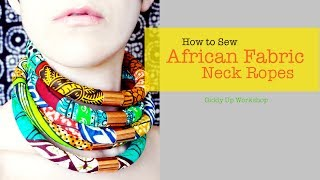 getlinkyoutube.com-Fashion DIY African Necklace Neck Ropes