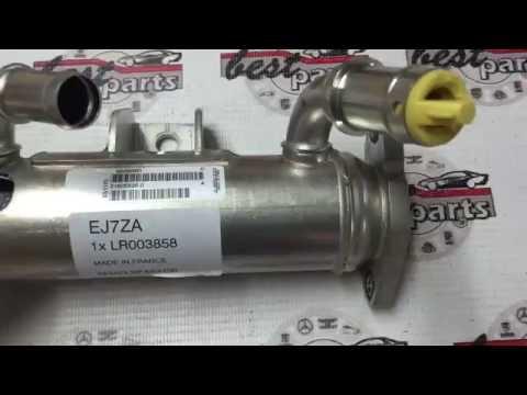LR003858 Охладитель (теплообменник) клапана EGR правый Range Rover Vogue L322/Sport L320