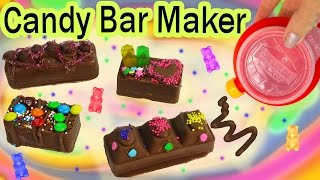 getlinkyoutube.com-CHOCOLATE CANDY BAR Maker Kit Set REAL FOOD Sprinkles Cookie Dough Gummy Bears Baker Moose Toys