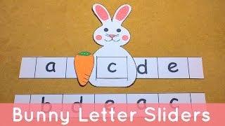 getlinkyoutube.com-Bunny Letter Sliders - Preschool Alphabet Activity