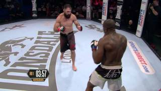 getlinkyoutube.com-BAMMA 23 (Prelim) Brett McDermott vs Pelu Adetola