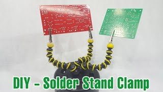 getlinkyoutube.com-Make a Solder Stand Clamp from Gorillapod in 2 minute at home