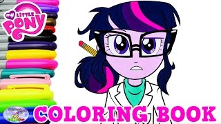getlinkyoutube.com-My Little Pony Coloring Book Twilight Sparkle Sci Twi Episode Surprise Egg and Toy Collector SETC