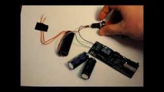 getlinkyoutube.com-The Super Capacitor Based 30kv Taser Stun Gun Prototype - Fast Rechargeable - 5.3v to 30kv.wmv