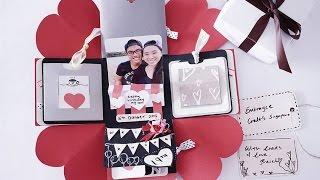 getlinkyoutube.com-DIY birthday exploding box card (Sweetheart surprise)