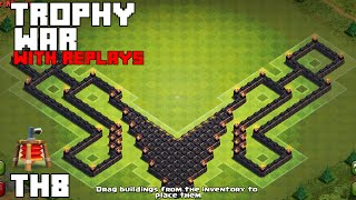 getlinkyoutube.com-Clash Of Clans - BEST TH8 TROPHY BASE EVER! 2015/WITH REPLAYS [Elysium]