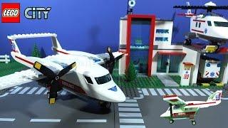 getlinkyoutube.com-LEGO City Ambulance Plane 60116