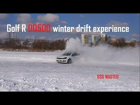 Golf R DQ500 winter drift expirience | DSG DEAD!