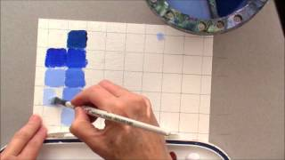 getlinkyoutube.com-Beginning Painting - Making Color Cards to Learn How to Mix Acrylic Paint Demo