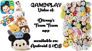 getlinkyoutube.com-my 1st GAMEPLAY VIDEO: Disney's TSUM TSUM stacking video game from Line App on Android & iOS