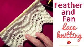 getlinkyoutube.com-Feather and Fan Stitch Lace Pattern