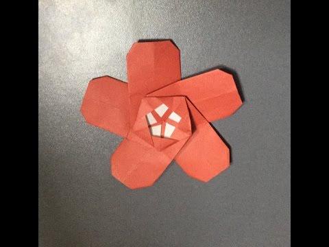 折り紙 梅の花 折り方 作り方 ...