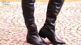getlinkyoutube.com-Flat Crotch High Boots - Model 115