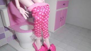 getlinkyoutube.com-How to make a bathroom (toilet) for doll Monster High, Barbie, etc