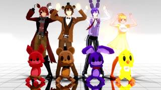 getlinkyoutube.com-【Five Nights At Freddy's - Caramelldansen】MMD