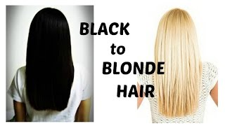 getlinkyoutube.com-How to bleach black hair blonde