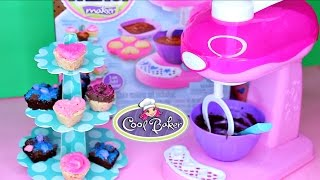 getlinkyoutube.com-Cool Baker Magic Mixer Cupcakes and Brownies Frosting Dessert Maker Playset Fast & Easy No Baking!