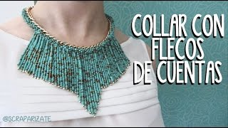 getlinkyoutube.com-COLLAR DE CUENTAS CON FLECOS