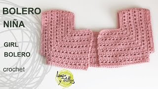 getlinkyoutube.com-Tutorial Bolero Fácil Niña Crochet o Ganchillo
