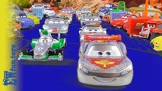 getlinkyoutube.com-Disney CARS RACE McQueen Francesco 2015 Disney Cars Story Set Toys