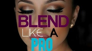 getlinkyoutube.com-How To Blend Your Eyeshadow Like A PRO! IN DEPTH | Makeup By Leyla