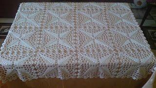 mantel cuadrado tejido a crochet