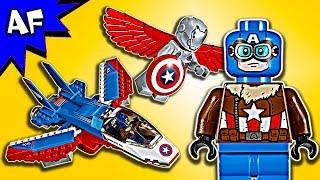 getlinkyoutube.com-Lego Marvel Captain America Jet Pursuit 76076 Speed Build