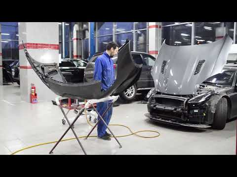 ???Jaguar F Type - замена наполнителя переднего бампера и решетки радиатора