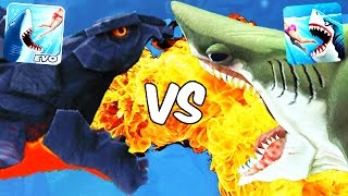 getlinkyoutube.com-Hungry Shark World vs Hungry Shark Evolution