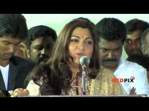 Actress Kusboo talks about the upcoming movie VIZHA -- RED Pix