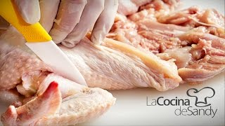 getlinkyoutube.com-Como deshuesar pollo para matambre en recetas de cocina faciles