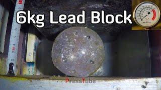 Crushing Lead Block to Lead Pancake width=
