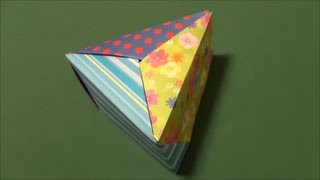 "getlinkyoutube.com-「三角の箱」折り紙""Triangular box"" origami"