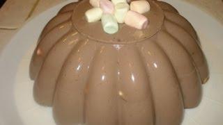 getlinkyoutube.com-Receta Postre Gelatina de Chocolate y Malvaviscos