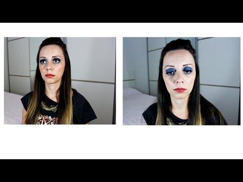 Tutorial: Maquiagem colorida (turquesa   azul   roxo)