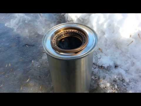TLUD Gasifier Stove Part 1 (Burn)