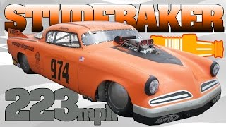 OHIO MILE: Blown Studebaker 223mph, goes off the end of the track! Wilmington 2012