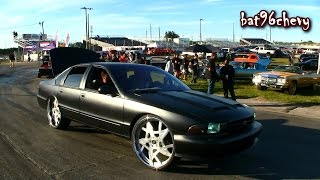 "FLAT BLACK 1996 Impala SS on 26"" Amani Forged Wheels - 1080p HD"